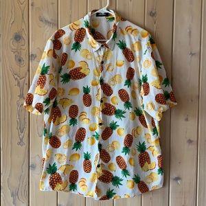 Jogal• Pineapple & Citrus Button Down• SS• XXL